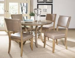 round dining table faux leather chairs. hillsdale charleston wood 5pc dining set w/ parson chairs round table faux leather w