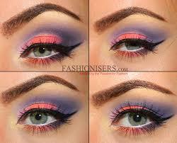 soft neon rainbow makeup tutorial