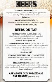 Beer Menu – Mcgann's Pub And Wine Bar