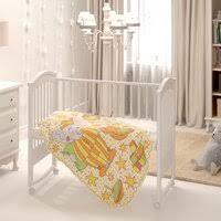 «<b>Baby Nice Одеяло</b> Пора спать 140 х 100 см, цвет: оранжевый ...