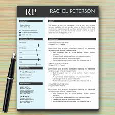 Single Page Resume Template Custom Modern One Page Resume Template Free Download Journalist One Page