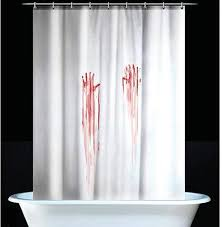 hand prints psycho shower curtain