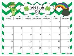 editable calendar march 2018 2018 and 2019 editable calendar pdf version by sarah kirby tpt