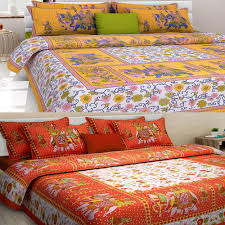 cotton bed sheets. Wonderful Bed Uniqchoice Set Of 2 Rajasthani King Size Cotton Bedsheets With 4 Pillow  Covers  Bed Sheets  HomeShop18 Throughout E