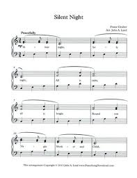 Silent Night - Free Easy Christmas Piano Music