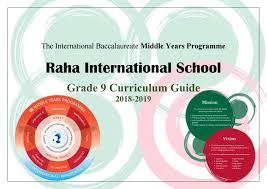 Myp Digital Design Project Ideas Grade 9 Curriculum Guide 2018 2019 By Raha Interntional