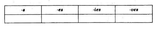 Промежуточная контрольная работа по теме Множественное число  Промежуточная контрольная работа по теме Множественное число существительных 4 класс
