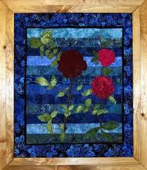 Wall Art Design Ideas: Flower Quilted Wall Art S&le Great Rose ... & Flower Quilted Wall Art Sample Great Rose Moms Joy Wallpaper Blue Adamdwight.com