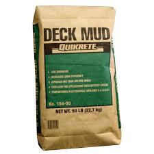 deck mud concrete mix