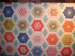 It's All About The Fabric: How Do You Make A Grandmothers Flower ... & Grandmothers Flower Garden Quilt at OldFashionedQuilts, Etsy Adamdwight.com
