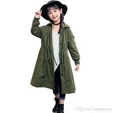 2018 spring autumn trench coat for girls children clothing long outerwear coat teenage girls windbreaker for 5 15y rt067 short trench coat with hood black