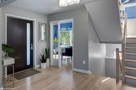 entryway with contemporary front door