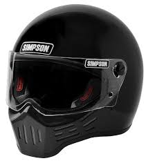 Simpson M30 Dot Approved Helmet Gloss Black