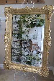 Mirror Wedding Seating Chart Picture Of Xl Ornate Gold Framed Mirror Seating Chart