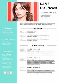 Modern Nurse Resume Format Word