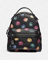 CAMPUS BACKPACK 23 WITH RAINBOW ROSE PRINT ...