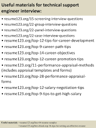 Resume Technical Support Engineer