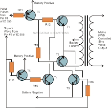 pure sine wave inverter using ic electronic circuit projects electronic circuit projects