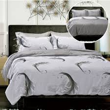 wing white grey doona quilt duvet cover reversible bedding set all sizes new