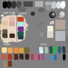 digital painting color palette idrawgirls