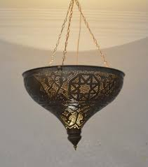 handcrafted moroccan oxidize brass ceiling light fixture chandelier lamp ml29