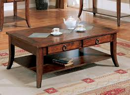 Image of: Brown Rustic Storage Coffee Table