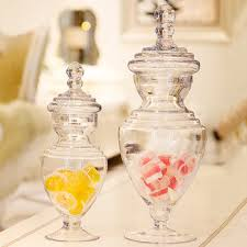 Decorative Clear Glass Jars With Lids European home wedding decoration clear glass jars with lid for 77