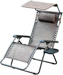 zero gravity chairs with canopy oversized chair sunshade and drink tray in brown mesh big lots
