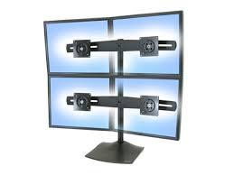 ergotron 33 324 200 ds100 quad monitor desk stand