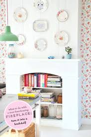 turn on fireplace turn a non functioning fireplace into a bookshelf at home in love turn turn on fireplace