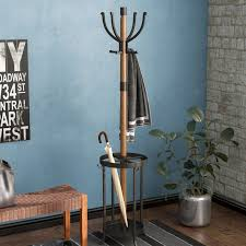 Wooden Coat Rack With Umbrella Holder Beauteous 32 Stories Andreas Wood And Metal Coat Rack With Umbrella Stand