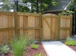 Brilliant Design Privacy Fence Ideas with Natural Brown Color Wooden ...