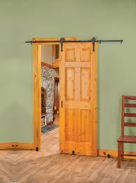 new rolling barn style door hardware creates stylish e saving interior door options doors glide sideways keeping walkways open