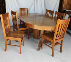 round oak dining table to view this set of six mission oak chairs on this picture