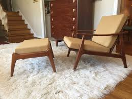 mid century modern ottoman. Mid Century Modern Swooped Arm Walnut Lounge Chair Ottoman In The With Regard To Chairs Prepare 6