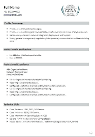 Cisco Network Engineer Sample Resume Network Engineer Best Ideas Of