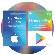 apple and google play gift cards