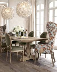 Dining Chairs: Dining Room Fabulous Image Of Dining Room Decoration Using  Wing Back Orange Flower
