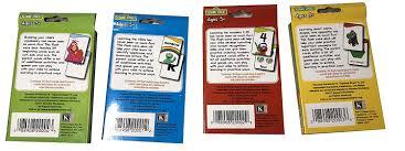 Flash Card Design Ideas Amazon Com Sesame Set Of 4 Street Flash Cards Kindergarten