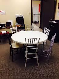 6 resin chiavari chairs around 48 inch table