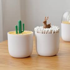 Nordic Style <b>Creative</b> Toothpicks Holder Cotton Swab Box Case ...