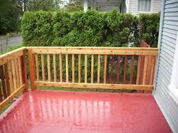 cedar railing for concrete porch deck