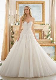 Modern Mori Lee Wedding Gown Dreamy Ball Style 2877 Morilee