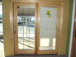 blinds between glass door shades inside windows sliding door wood clad french sliding patio door with blinds between the glass patio door blinds between