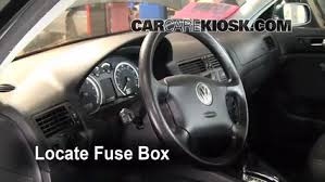 interior fuse box location volkswagen jetta  locate interior fuse box and remove cover