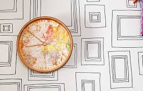 easy ikea clock with a world map