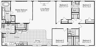 5 bedroom 3 bath mobile home floor plans