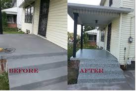 concrete slab patio makeover. Simple Patio Cement Patio Makeover  On Concrete Slab A