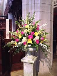Easter Floral Design Ideas Easter Pedestal Large Flower Arrangements Easter Flower
