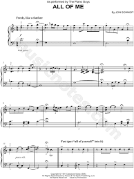all of me sheet music piano easy print and download sheet music for all of me by the piano guys